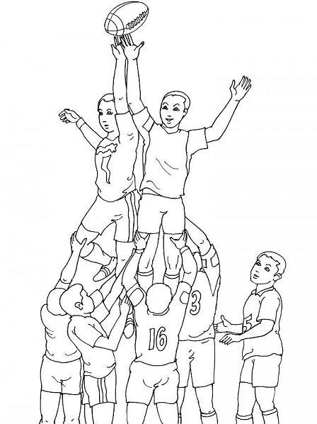 Coloriage sport coloriage sport gratuit a imprimer - Coloriage de rugby ...