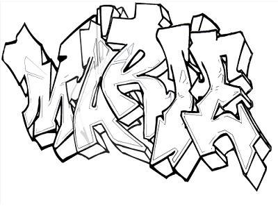 Tag colorier pr nom phrase - Coloriage graffiti ...