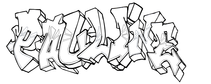 Tag 6 - Coloriage graffiti ...